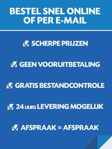 Bestel snel online of per e-mail